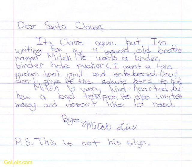 funny christmas letters funny christmas letters santa letters funny ...